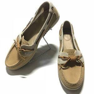 🚺 SPERRY TOP-SIDER womens leather boat shoes